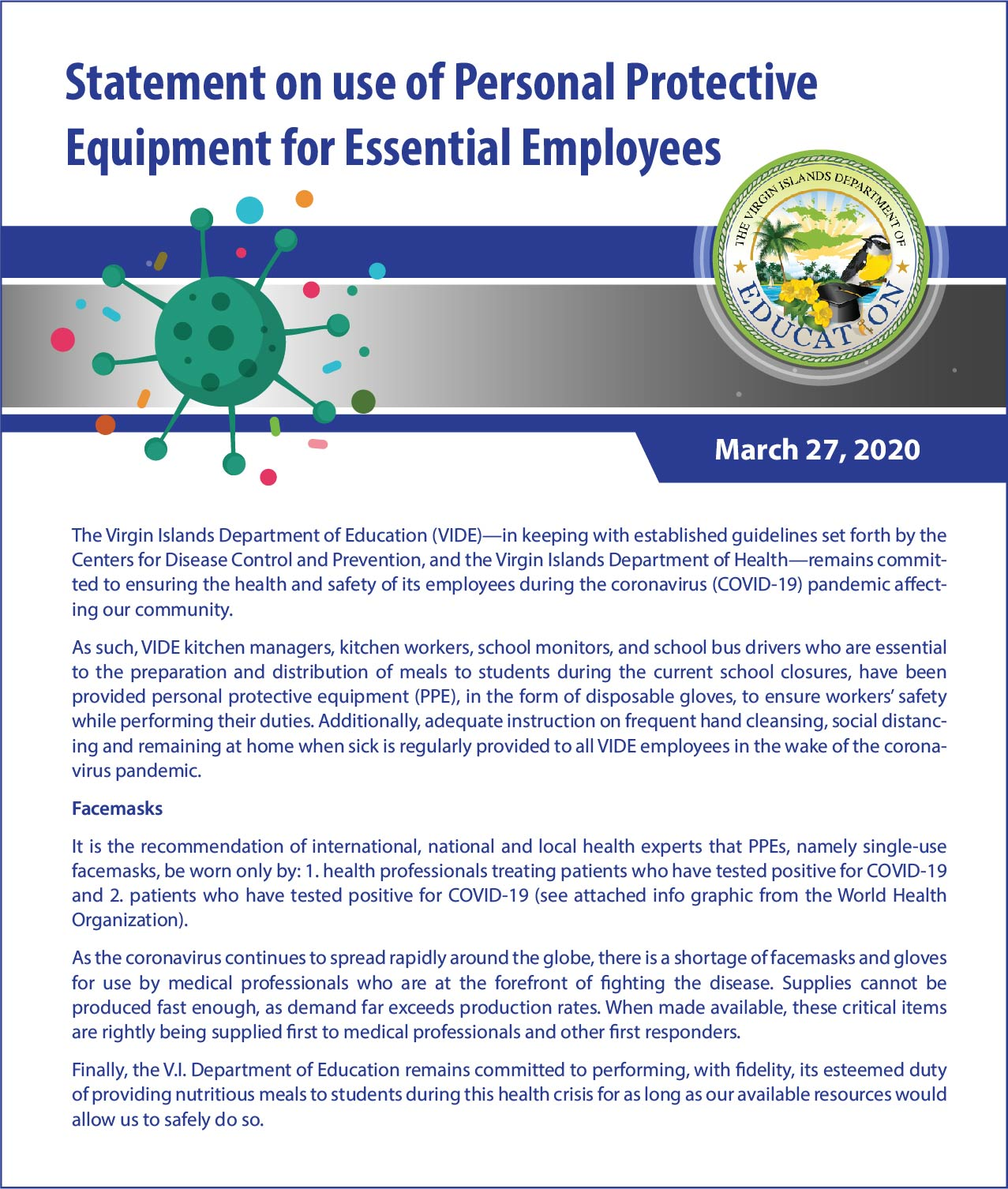 Statement on use of Personal Protective Equipment for Essential Employees.jpg