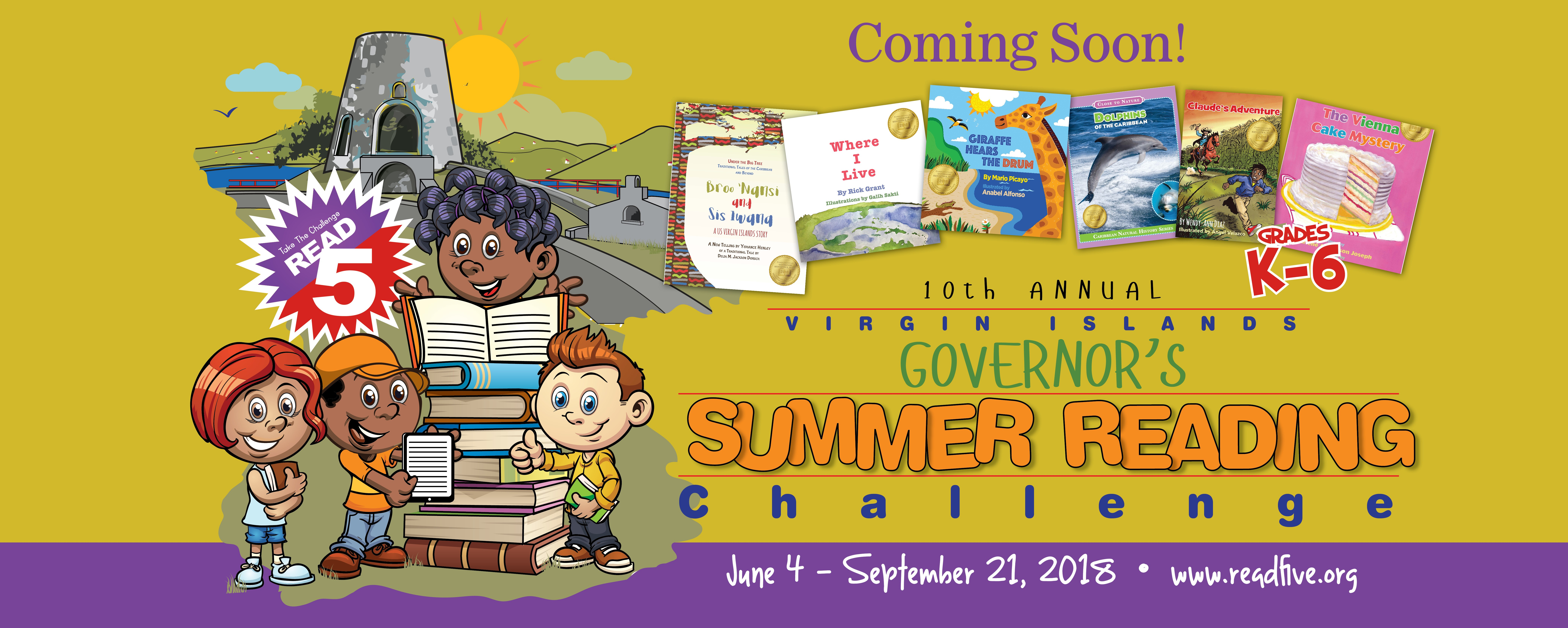 Get Ready for the 10th Annual Virgin Islands Governor's Summer Reading Challenge!